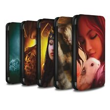 Official Elena Dudina PU Leather Case/Wallet for Apple iPhone 8 /The Animals