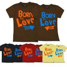 geefashion couple t-shirts ( born to love her-him t-shirts)