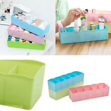 Storage Box Tie Bra Chaussettes Drawer Cosmetic Divider Tidy Organizer Eager QW