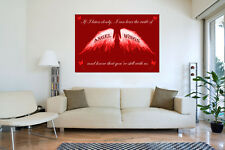 Angel Wings Wall Art Picture IF I Listen Closely Quote Canvas Print Red