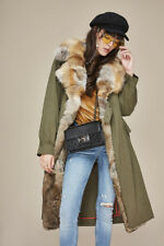 ECHTPELZ FUCHS KRAGEN MANTEL TRENCHCOAT PARKA JACKET COAT RABBIT FOX FUR COLLAR