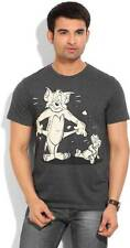 Tom & Jerry Printed Mens Round Neck T-Shirt-5441-HVO