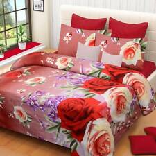 IWS Polyester Printed Double Bedsheet (1 Double Bedsheet, 2 Pillow Covers) - IV0