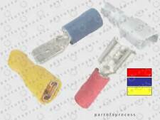 Spade Electrical Terminals Crimp Connectors Red Blue or Yellow Male or Female