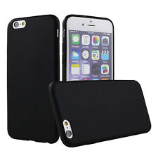 Black Rubber Slim Armour Thin Back Case Cover for iPhone 6 6s 7 7 Plus 5 5s SE