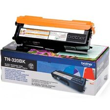 AUTENTICO BROTHER TN-320BK (TN320) NERO STAMPANTE LASER CARTUCCIA DEL TONER