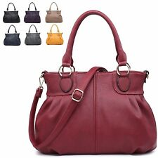 Ladies Faux Leather Shoulder Bag Evening Party Handbag Grab Bag Tote MA34950