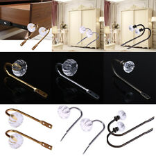 2x Crystal Glass Curtain Clothes Holdback Wall Tie Back Hooks Hanger Holder