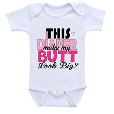 Dos This Diaper Make My Butt Look Bigger Cute Gift Baby Bodysuit By Apparel USA™