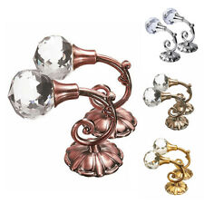 2x Large Metal Crystal Glass Curtain Holdback Wall Tie Back Hook Holder Hot Sale