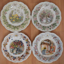 ROYAL DOULTON BRAMBLY HEDGE FOUR SEASONS PLATES - SPRING SUMMER AUTUMN or WINTER