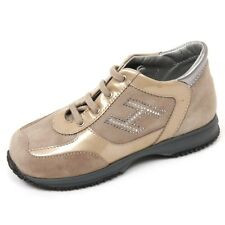 C9248 sneaker bimba HOGAN JUNIOR NEW INTERACTIVE scarpa beige shoe kid