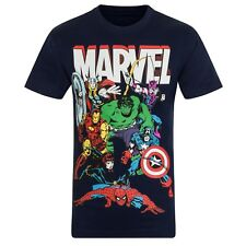 Marvel Comics - T-shirt originale con personaggi Hulk, Iron Man, Thor - bambino