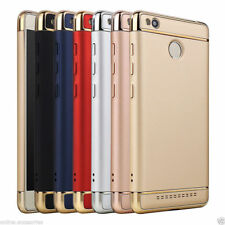 3 In 1 Electroplated Bumper Frame Hard Back Cover Case For Xiaomi Redmi 3S Prime