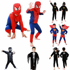 Superhero Costume Kids Batman Spiderman Superman Zorro Boys Marvel fancy dress
