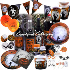 Graveyard Gathering Halloween Party Decorations & Tableware Plates Cups Napkins