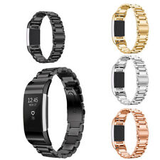 Luxury Stainless Steel Bracelet Replacement Watch Band Strap For Fitbit Charge 2