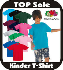 (3,89€/STück) 10x Kinder T-Shirt Fruit of the Loom Valueweight T 16 Farben