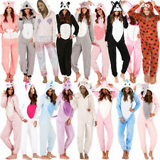 Womens 3D Hooded Novelty Animal All In One Cute Pyjamas Jumpsuit Unicorn