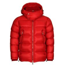 New AW17 Moncler 'PASCAL' Down Hooded Puffer Jacket - Red