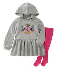 JUICY COUTURE baby girl 2pc Hooded DRESS & TIGHTS SET 3/6M 6/9M 9/12M BNWT