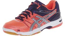 Womens Asics Gel Rocket 7 B455N Flash Coral Silver Sport Shoes Running Trainers