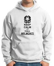 FELPA DA UOMO CON CAPPUCCIO t0207 KEEP CALM CALL MR MARIO MONTI GOVERNO