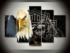 Eagles Motorcycle HD Canvas Prints 5 Pieces Painting Wall Art Home Decor Panels