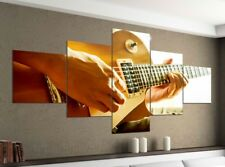 IMAGE toile 5 pièces 200x100 Guitare Country guitariste musique toile 9ya175
