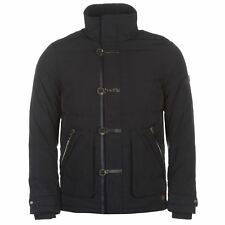 Lee Cooper Button Down Jacket Mens Navy Coat Outerwear