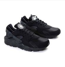 NIKE AIR HUARACHE MEN TRIPLE BLACK BLACKOUT ALL BLACK 318429-003 With RECEIPT