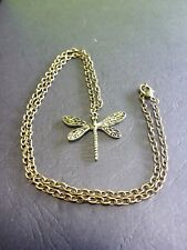 1 Steampunk Old Bronze Dragonfly Wings Pendant Necklace 50 cm Chain Steam Punk