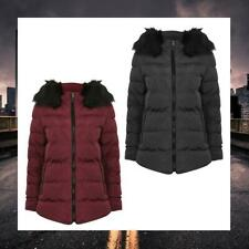 TOKYO LAUNDRY WOMENS FAUX FUR HOODED PADDED PUFFER PUFFA JACKET 3J9799