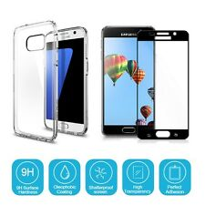 CLEAR GEL CASE / TEMPERED GLASS SCREEN PROTECTOR FOR SAMSUNG GALAXY J5 2017 J530