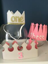 Kids Birthday Crown Ages Costume Fancy Dress Up Party Photo Booth Prop Fun