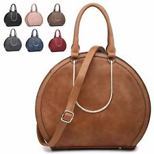 Ladies Faux Leather Round Handbag Day Shoulder Bag Evening Party Tote Bag MW2404