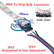 Non Soldering 4-Pin Hippo-M LED Strip to Wire Connector 5050 RGB LED IP20 / IP65