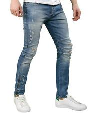 REDBRIDGE Herren JEANS Hose Destroyed Vintage-Look Skinny Slim-Fit styler design