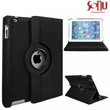 360 Degree Leather Rotating Smart Stand Case Cover For APPLE iPad Air 2 3 4 Mini
