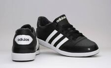 Womens Adidas Hoops Vl Black White Trainers Lace Up Casual Ladies Leather Shoes