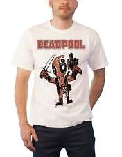 Deadpool T Shirt Deadpool Cartoon Bullet nouveau officiel Marvel Comics Homme