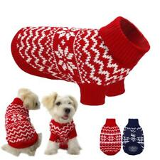 Warm Small Dog Pet Clothes Coat POLO Neck Sweater Chihuahua CHRISTMAS Jumper S M
