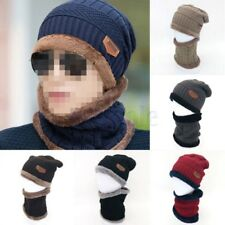 Mens Womens Camping Hat Winter Beanie Warm Wool Ski Cap Fleece Line BS