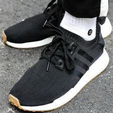 ADIDAS NMD_R1 PK Sneaker Herren Herrenschuhe Turnschuhe Originals Black BY1887