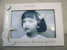 personalised photo frame. 6x4 inch. DADDY love you to the moon and back