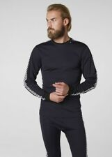 HELLY HANSEN Lifa SEC Rayure Col Rond thermique haut manches longues GRAPHITE BL