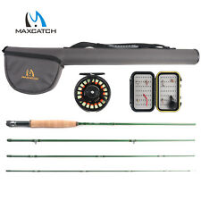 Maxcatch 9FT 5/6WT Fly Fishing Rod Combo Fly Rod & Pre-spooled Reel & Box &Flies