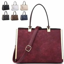 Ladies Knitted Woven Handbag Faux Leather Shoulder Bag Evening Tote Bag MA34939