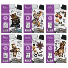 NEUF Crafters Companion -steampunk ANIMAUX A6 timbres