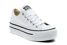 ALL STAR PLATFORM OX WHITE 540265C SNEAKERS MODA Donna